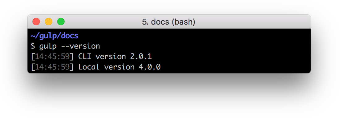 Output: CLI version 2.0.1 & Local version 4.0.0